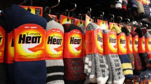 Row of TMAX socks heat winter socks