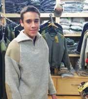 men in wool sweater
