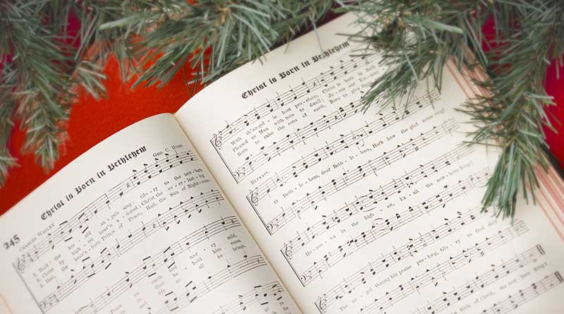 Christmas book with lyrics