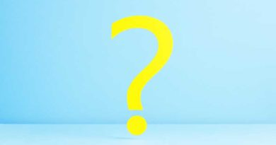Question mark over blue background