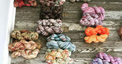 Yarn bundles on floor