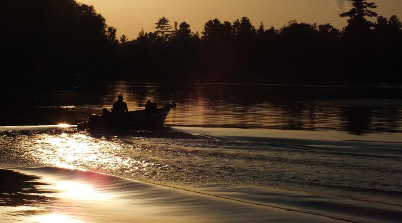 Boat on Pigeon Lake
