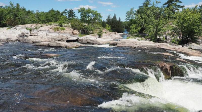 the falls in Burleigh Falls