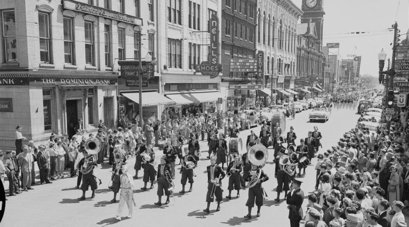 downtown Ptbo May 1954
