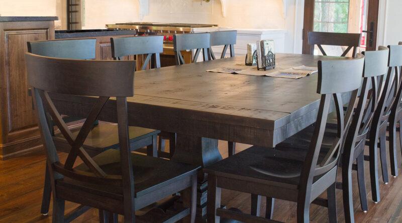 dark wooden dining set
