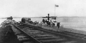 Cobourg-Peterborough Railway at_ Harwood_ 1865