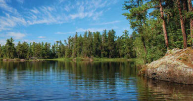 Saganagons lake on a perfect summer day in the Quetico Wilderness